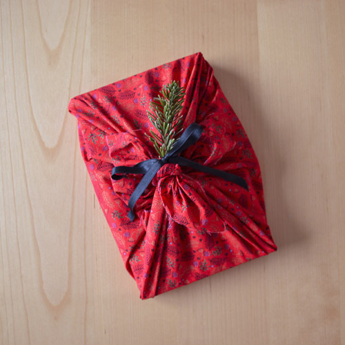 Furoshiki cadeau zéro déchet