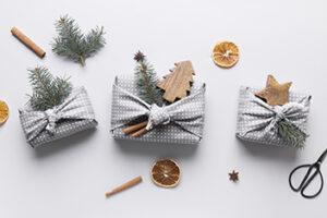 DIY furoshiki Noël zéro déchet