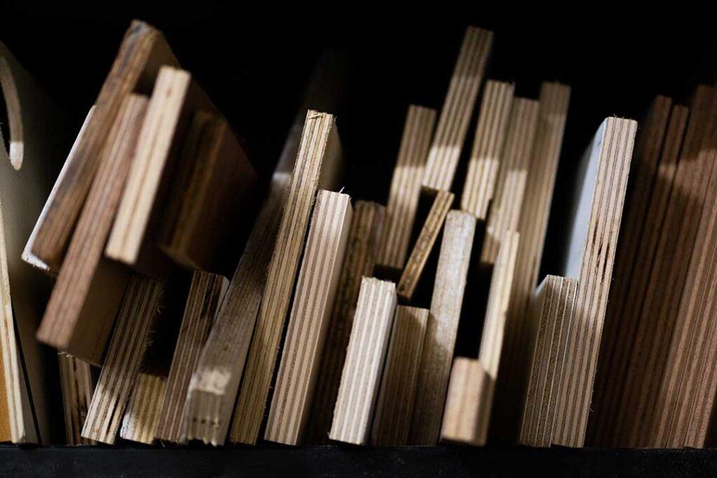 Bois matière recyclage réemploi mobilier