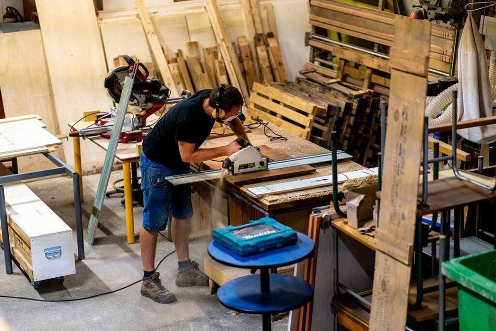 Création upcycling bois recyclage
